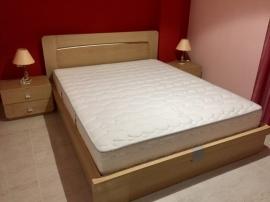 Κρεβατοκάμαρα SATURN από ξύλο δρυς σε λευκή/ανοιχτόχρωμη απόχρωση